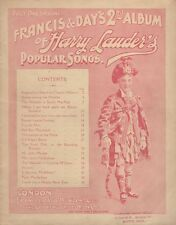 *GREAT SCOTS SINGER COMEDIAN SIR HARRY LAUDER: RARE EARLY 1900s SONGSTER*