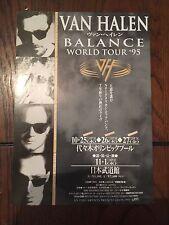Van Halen Balance Japan CONCERT TOUR FLYER /HANDBILL 1995 Hagar