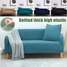 1/2/3/4 Seat Soft Polar Fleece Elastic Fabric Cover Furniture Couch Slipcovers