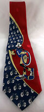 Goofy Bicycle Tie Mickey Unlimited Polka Dot Red Blue Gold Disney