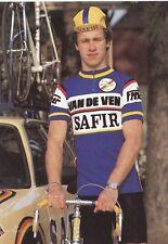 CYCLISME carte cycliste IVAN LAMOTE  équipe VAN DE VEN SAFIR 1983