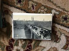 T2-1 postcard unused old 1900s london bridge minor wear