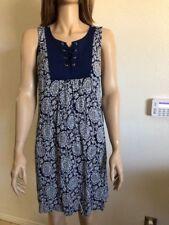 NWT As U Wish Juniors Printed Lace-up Shift Dress Medium Size Navy Floral