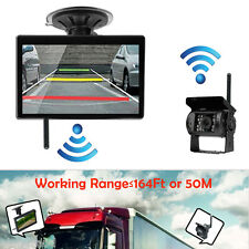 """HD 5"""" TFT Monitor+Suction+2.4G Wireless Back Up Camera Kit For Bus Truck Trailer"""