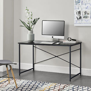 [en.casa] Schreibtisch 120x60x72cm Schwarz Bürotisch Computertisch Arbeitstisch