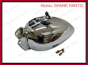 Royal Enfield Bullet 1950's Chromed Fuel Tank With Tap & Cap