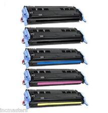 5x COMPATIBLE TONER for HP Color Laserjet 1600 2600n 2605DTN CM1015mfp CM1017