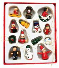 14 Weihnachtsanhänger Holz Figuren Christbaumschmuck Teddy Engel Weihnachten