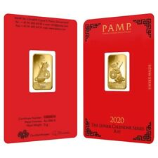 5 gram PAMP Suisse Year of the Mouse / Rat Gold Bar (In Assay)
