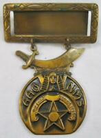 Imperial Council Session AAONMS Mystic Shrine Shriners Vintage Medal Badge Pin O