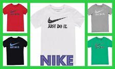 New 2018 NIike Junior Boys Cotton Swoosh Just Do It T Shirt  Age 7-15 --5 COLORS