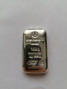 100g Silver Bullion Bar Unimet . 999