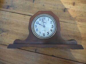 Vintage William Gilbert Wind Up Clock Wood Mantel Shelf Alarm Clock