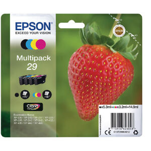 Genuine Epson T2986 Strawberry 29 Multipack - 4 inks (C13T29864010) for XP-445