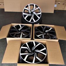 "Fits VW Golf Jetta Passat Eos CC 5x112 18"" Clubsport Style Wheels Black Machined"