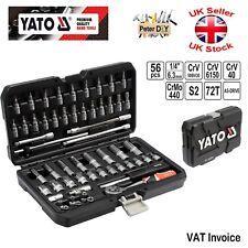 "Yato Professional 56pcs  1/4"" Ratchet Socket Set Tools Toolbox AS-DRIVE YT-14501"
