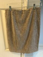 Women's Ann Taylor Silver/Gray Skirt Size 10