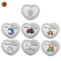 WR 999 Forever Love SILVER Heart Shape Coin Set QEII $1 Romantic Valentines Gift