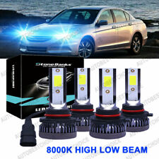 Combo 9005+9006 8000K Ice Blue Cree Led Headlight Kit High & Low Beam Light Bulb (Fits: Acura)