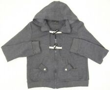 Hooded Jacket Coat Timing Womens Gray Medium Polyester Cotton Women Woman Solid