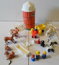 Vintage Fisher Price Play Family Farm #915, silo and miscellaneous only