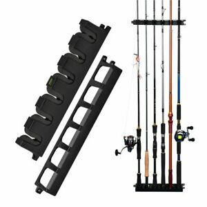 Fishing Rod Vertical Holder 6-Rod Fishing Pole Rack Wall Mount Modular Holders