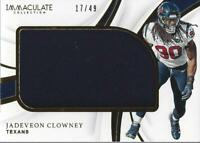 2019 Immaculate Collection Immaculate Standard Jersey Jadeveon Clowney Jersey/49