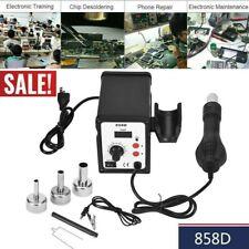 700W 858D Electric Hot Air Heat Gun Soldering Station Desoldering Tool LED USA