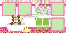 Scrapbook Page Kit Die Cuts Bath Fun in the Tub Child Baby Girl Rubber Duck 146
