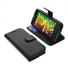Tasche f. MEDION Life E4503 Smartphone BookStyle Schutz Handy Hülle Buch Schwarz