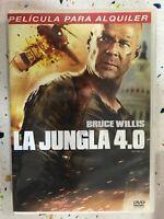 La Giungla 4.0 DVD Die Hard 4.0 Bruce Willis Giungla De Cristal Spagnolo Inglese