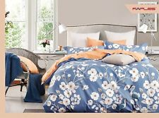 100% Cotton Flower Design KING SIZE Bed Set Duvet Quilt Cover And Two Pillowcase
