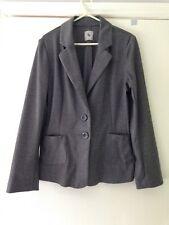 Ladies Suit Jacket Size 12. Eu 40. Grey Pin Striped
