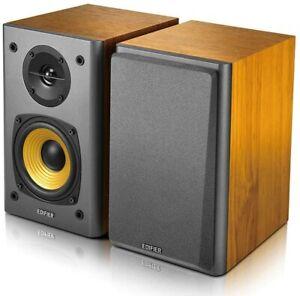 Edifier R1000T4 Active Bookshelf Studio Turntable/TV/MAC/PC Speakers - Brown