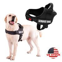 Service Dog Vest Harness Adjustable Patche Reflective for Small Large Medium Pet