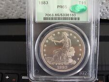 PCGS 1883 PF-65 TRADE DOLLAR ( OGH )