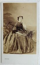 CDV PHOTO LEVITSKY second empire Mlle Jeanne  DESROZIERS jeune femme F619