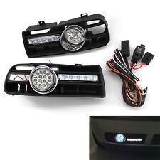 Front Bumper Grill LED Fog Light Grille W/ LED DRL Lamp for VW Golf MK4 97-03 CA