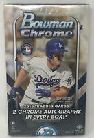 2015 BOWMAN CHROME Baseball Unopened HOBBY Card BOX Sealed MLB 2 Autographs