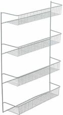 Coated Wire Shelf Door Wall Mount for Kitchen Pantry Bathroom Storage Organizer