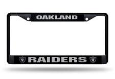 Oakland Raiders Metal BLACK CHROME License Plate Frame Auto Truck Car NFL