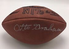 Otto Graham  Signed Wilson NFL Official Football
