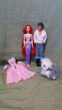 Disney's The Little Mermaid Princess Ariel & Prince Eric w/Max Vintage Mint 1997