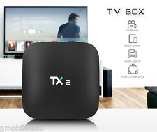 tx2-R2 TV-Box 2.4ghz WI-FI HD 4k x 2k Android 6.0 cuatro núcleos 2gb+16gb