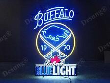 """Buffalo Sabres Blue Light Labatt Neon Light Sign 24""""x16"""" Beer Bar Decor Lamp"""