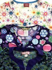 Lot Of 3 Koi Dickies Small Scrubs Shirt Top Uniform Nurse Hospital Purple