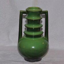 1928 Roseville Pottery Futura Emerald Urn / Vase Shape #389-9 Art Deco