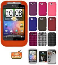 AMZER Skin TPU Gel Case Screen Protector For HTC HD Mini HD7 Legend Wildfire S