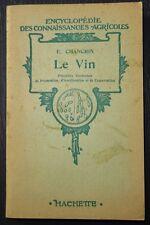 CHANCRIN: Le Vin / 1952