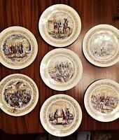 D'arceau Limoges Plates Lafayette Legacy Collection Revolutionary War Lot of 7